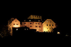 Vaduz castle at night Royalty Free Stock Photo