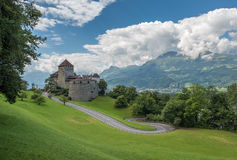 Vaduz Castle, the palace of the Prince of Liechtenstein Stock Photos