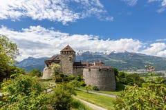 Vaduz Castle in the Alps, Liechtenstein. stock photography