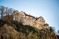 Vaduz Castle on top of the mountain Royalty Free Stock Photography