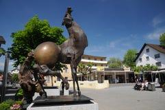 Vaduz centre - modern sculpture - Julio Alvez Stock Images