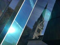 Vaduz domkyrka- och exponeringsglasmonument Royaltyfria Bilder