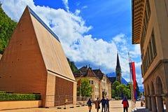 Vaduz główna ulica Liechtenstein Zdjęcia Royalty Free