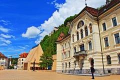 Vaduz główna ulica Liechtenstein Fotografia Stock