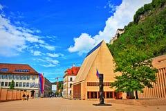 Vaduz główny plac Liechtenstein Zdjęcie Stock