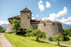 Vaduz kasztel w Liechtenstein Obrazy Stock