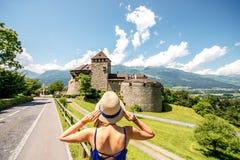 Vaduz kasztel w Liechtenstein Obraz Stock