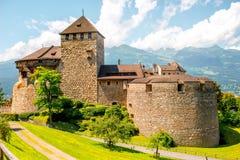 Vaduz kasztel w Liechtenstein Obrazy Royalty Free