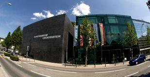 Vaduz - Kunstmuseum Liechtenstein Stock Photography