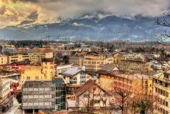 Vaduz, la capitale del Liechtenstein Immagini Stock