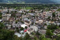 Vaduz - Liechtenstein capitale 21 agosto 2016 Immagini Stock Libere da Diritti