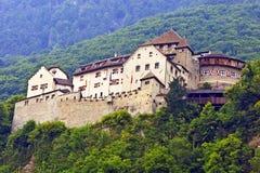 Vaduz, Liechtenstein - Castle. VADUZ, LIECHTENSTEIN - JULY 17: The Vaduz Castle, formely called High Liechtenstein, situated on a rock terrace above the capital Stock Photo