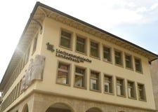 Vaduz Liechtenstein, Juni 02, 2016: Landesbank byggnad i Vadu Arkivbilder