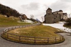 Vaduz, Liechtenstein. Street view in Vaduz, Liechtenstein on March 5, 2013. Vaduz is the capital city of Liechtenstein Stock Photos