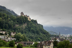 Vaduz Panoramic View with the Castle, Liechtenstein Royalty Free Stock Photography