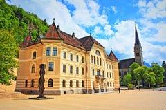 Vaduz punkty zwrotni Liechtenstein Obrazy Stock