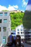 Vaduz rolig sikt Liechtenstein Royaltyfria Bilder