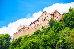 Vaduz royal castle Royalty Free Stock Photo