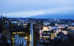 Vaduz seen evening time Stock Image