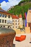 Vaduz sikt Liechtenstein Fotografering för Bildbyråer