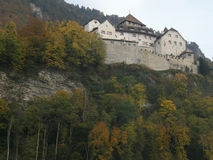 Vaduz slott Arkivfoton