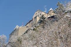 Vaduz slott i Lichtenstein Arkivbilder