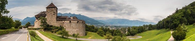 Vaduz slott III Arkivfoto
