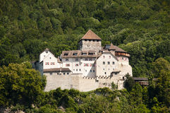 Vaduz slott - Liechtenstein Arkivfoto