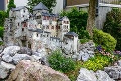 Vaduz slottmodell som lokaliseras i centret Arkivbilder