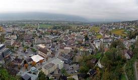 Vaduz stad i Liechtenstein Royaltyfria Bilder