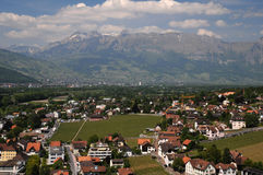 Vaduz town - view from above Stock Images