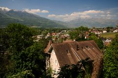 Vaduz town - view from above Royalty Free Stock Photo