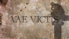 Vae victis Latinskt uttryck Arkivbild