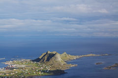 Vaeroy. Picturesque island of Vaeroy on Lofoten islands in Norway Royalty Free Stock Photos