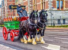 Vagão da cerveja de Heineken Fotografia de Stock Royalty Free