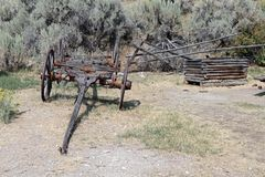 Vagão de Bannack Montana Ghost Town fotografia de stock