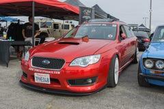 Vagão do legado de Subaru na exposição Imagem de Stock