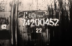 Vagão do petróleo de Grunge Imagens de Stock