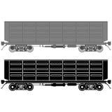Vagão Railway Fotos de Stock Royalty Free