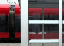 Vagão railway vermelho Fotos de Stock Royalty Free
