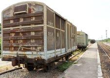 Vagão velho do recipiente Foto de Stock Royalty Free