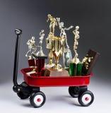 Vagão vermelho de Trophy& x27; s imagem de stock