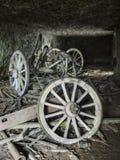 Vagões abandonados imagens de stock