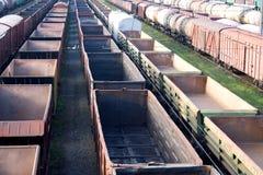 Vagões cobertos Railway Imagens de Stock