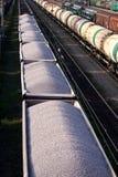 Vagões cobertos Railway Fotos de Stock