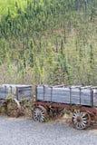 Vagões da mineração do ouro imagens de stock royalty free