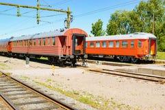 Vagões do trem do vintage foto de stock royalty free