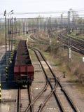 Vagões vazios de carvão Foto de Stock Royalty Free