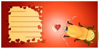 Vaga-lume da ampola do amor Fotografia de Stock