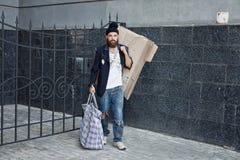 Vagabond sur la rue Photographie stock libre de droits